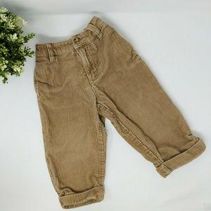 Gap Khaki Corduroy Pants Elastic Waist 18 - 24